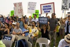 Los partidarios del cuidado médico se reúnen en Los Ángeles Imágenes de archivo libres de regalías