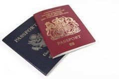 Los pasaportes se cierran para arriba Imagen de archivo