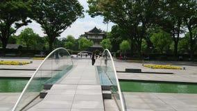 Los paseos a través del palacio imperial parquean en Tokio - TOKIO/JAPÓN - 19 de junio de 2018 almacen de metraje de vídeo