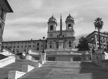 Los pasos de progresión del español en Roma, Italia Fotografía de archivo
