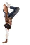 Los pasos de progresión en romper-bailan realizado por el bailarín Imagen de archivo