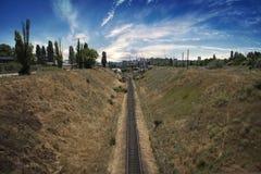 Los pasos del ferrocarril Fotografía de archivo libre de regalías