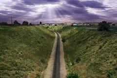 Los pasos del ferrocarril Fotos de archivo libres de regalías