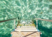 Los pasos que llevan al agua Fotografía de archivo