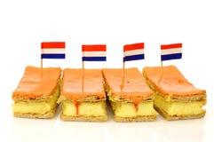 Los pasteles holandeses tradicionales llamaron el tompouce imagen de archivo