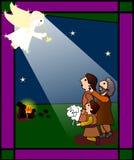 Los pastores stock de ilustración