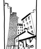 Los patios traseros urbanos de St Petersburg libre illustration