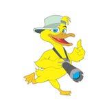 Los patos actúan como historieta de los fotógrafos Fotografía de archivo libre de regalías