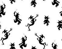 Los payasos van de fiesta el modelo negro de la textura ilustración del vector