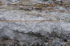 Los pedazos de hielo y leen Foto de archivo