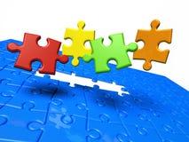 Los pedazos del rompecabezas de Puzzle.Color faltan Stock de ilustración