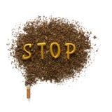 Los peligros de fumar Imágenes de archivo libres de regalías