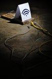 Los peligros de Wi-Fi libre Imagen de archivo libre de regalías