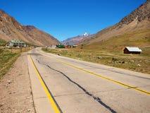 Los Penitentes ski resort in Mendoza, Argentina. Mountain road in Los Penitentes ski resort in Mendoza, Argentina, South America royalty free stock images