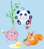 Los pequeños animales son bebés de las diversiones ilustración del vector