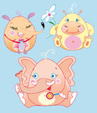Los pequeños animales son bebés de las diversiones stock de ilustración
