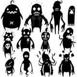 Los pequeños monstruos fijaron 02 Imágenes de archivo libres de regalías