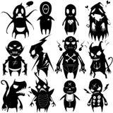 Los pequeños monstruos fijaron 05 Imagenes de archivo