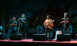 Los perfomers de la venda del Océano Índico viven en concierto Imágenes de archivo libres de regalías