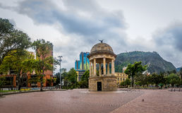 Los Periodistas Park and Monserrate - Bogota, Colombia. Los Periodistas Park and Monserrate in Bogota, Colombia stock photo