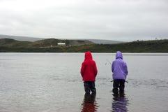 Los pescadores imagenes de archivo