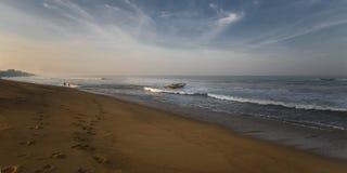 Los pescadores por la mañana Fotografía de archivo libre de regalías