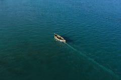 Los pescadores van para pescar Fotografía de archivo