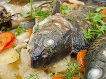 Los pescados cocidos Imágenes de archivo libres de regalías