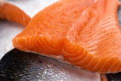 Los pescados de color salmón se cierran para arriba fotografía de archivo libre de regalías