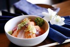 Los pescados japoneses basaron el plato imagen de archivo libre de regalías