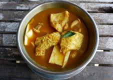 Los pescados tailandeses agrian la sopa Imagen de archivo libre de regalías