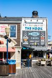 Los pescados y Chips Seafood Restaurant del gancho en el embarcadero 39 imagen de archivo libre de regalías