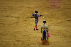 Los picadores w bullfighting obrazy stock