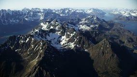 Los picos de Lofoten en el ártico almacen de video