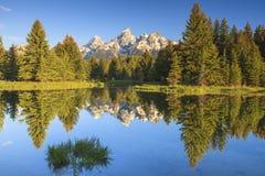Los picos magníficos de Tetons Fotografía de archivo