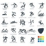 Los pictogramas del icono fijaron el ejemplo de 6 vectores Fotografía de archivo libre de regalías