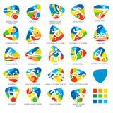 Los pictogramas del icono fijaron el ejemplo de 4 vectores Imagen de archivo libre de regalías