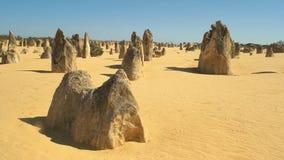 Los pináculos cerca de Perth en Australia occidental metrajes