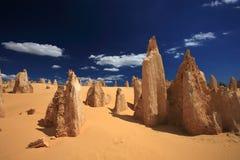 Los pináculos en Australia del oeste Imagen de archivo libre de regalías