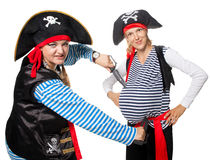 Los piratas se están riendo imagen de archivo
