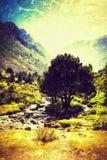 Los Pirineos en el verano Foto de archivo libre de regalías