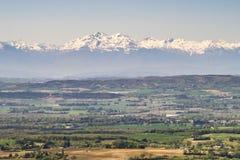 los Pirineos nevosos Fotografía de archivo