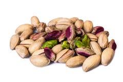 Los pistachos se cierran para arriba Foto de archivo libre de regalías