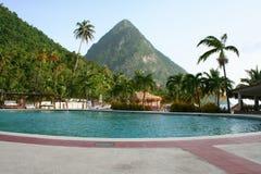 Los pitones en St Lucia Imagen de archivo