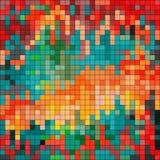 Los pixeles colorearon el fondo geométrico psicodélico libre illustration