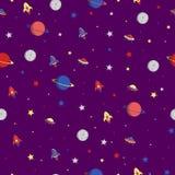 Los planetas alcanzan gran altura rápida y súbitamente las estrellas Foto de archivo