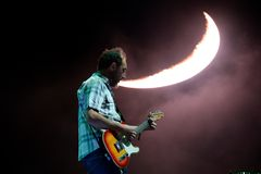 Los Planetas music band perform in concert at FIB Festival stock images