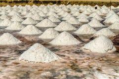 Los planos de la sal de Trapan, Sicilia Foto de archivo