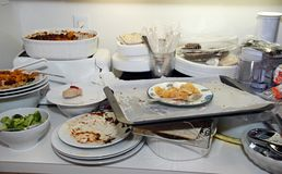 Los platos sucios Fotografía de archivo libre de regalías