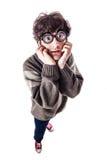 Los pobres ven al estudiante asustado Foto de archivo libre de regalías